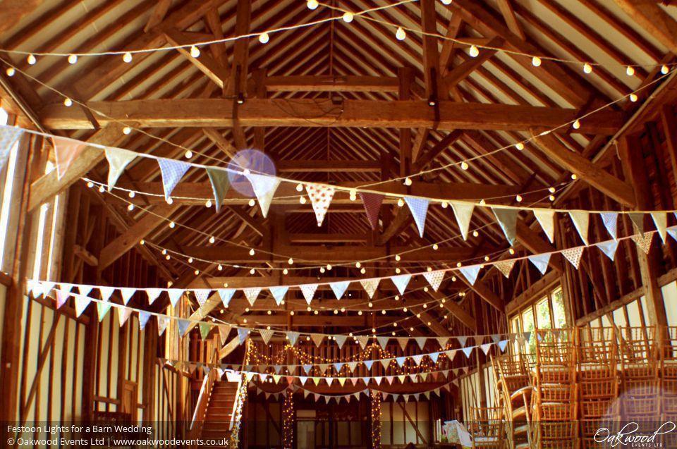 barn lighting festoon lights and oakwood on pinterest barn wedding lights