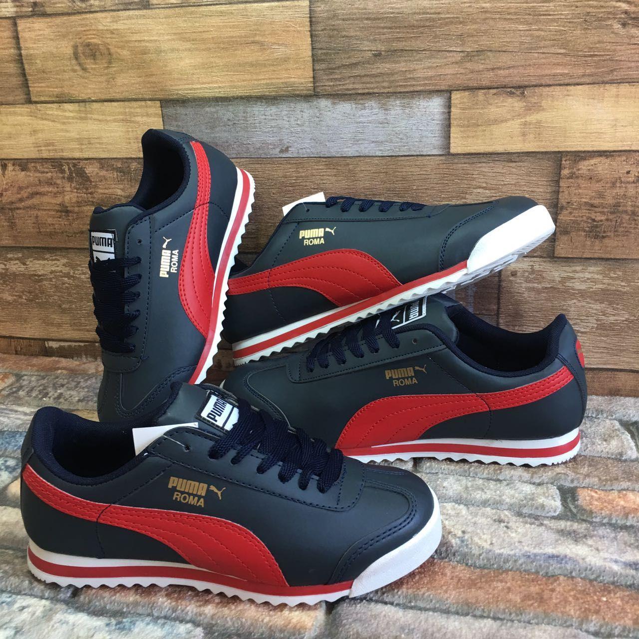 Puma Roma Basic Siyah Kırmızı Günlük Spor Ayakkabı Kadın-Erkek