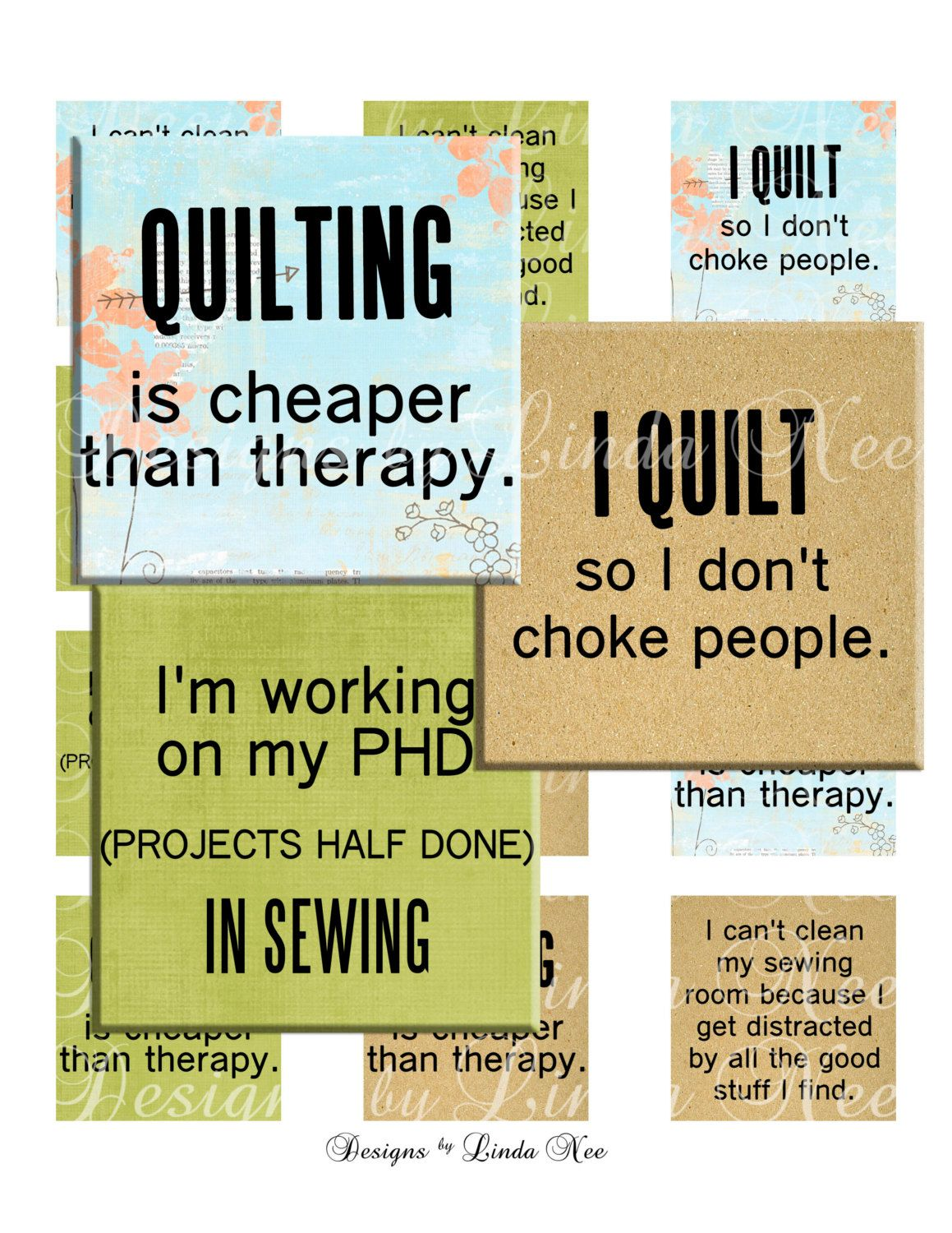 New Quilting And Fabric Quotes 2 1 X 1 Inch By Designsbylindanee