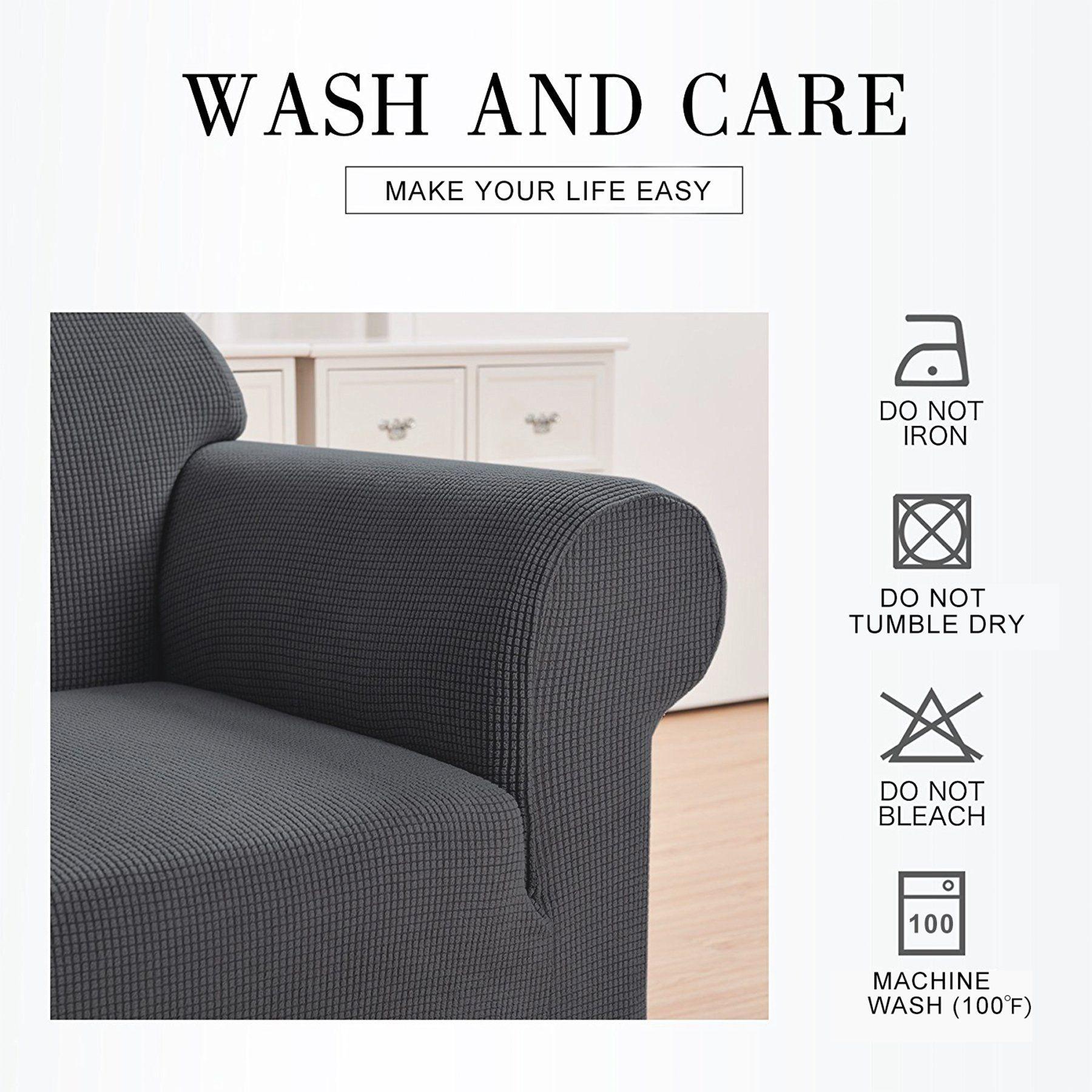 Hokway Sofa Cushion Slipcovers Stretch Spandex Cushion Protector