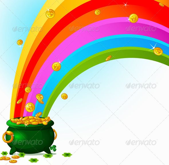 36++ Free clipart rainbow pot of gold information