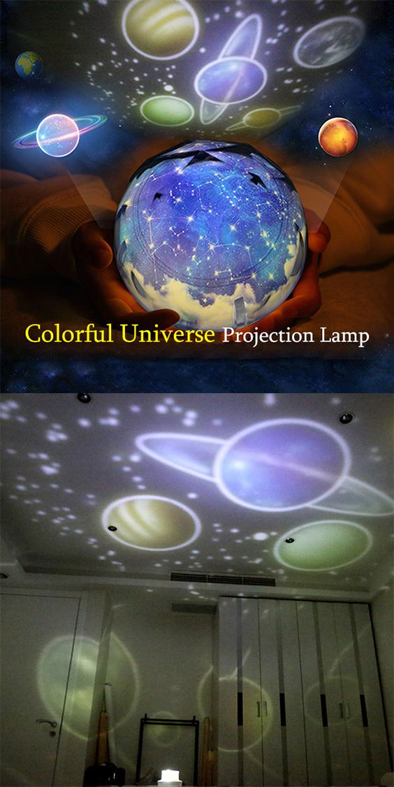 Universe Planetary Rotating Projection Night Light