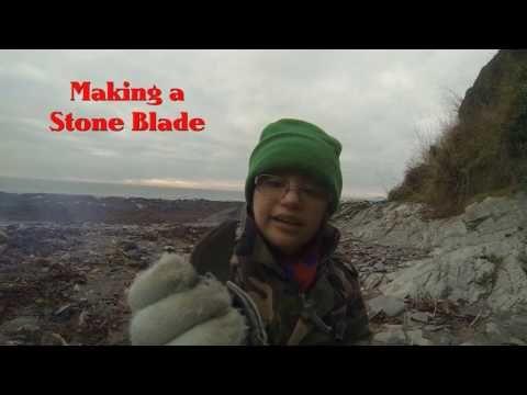 Amber Picking Samphire and making a Stone Knife