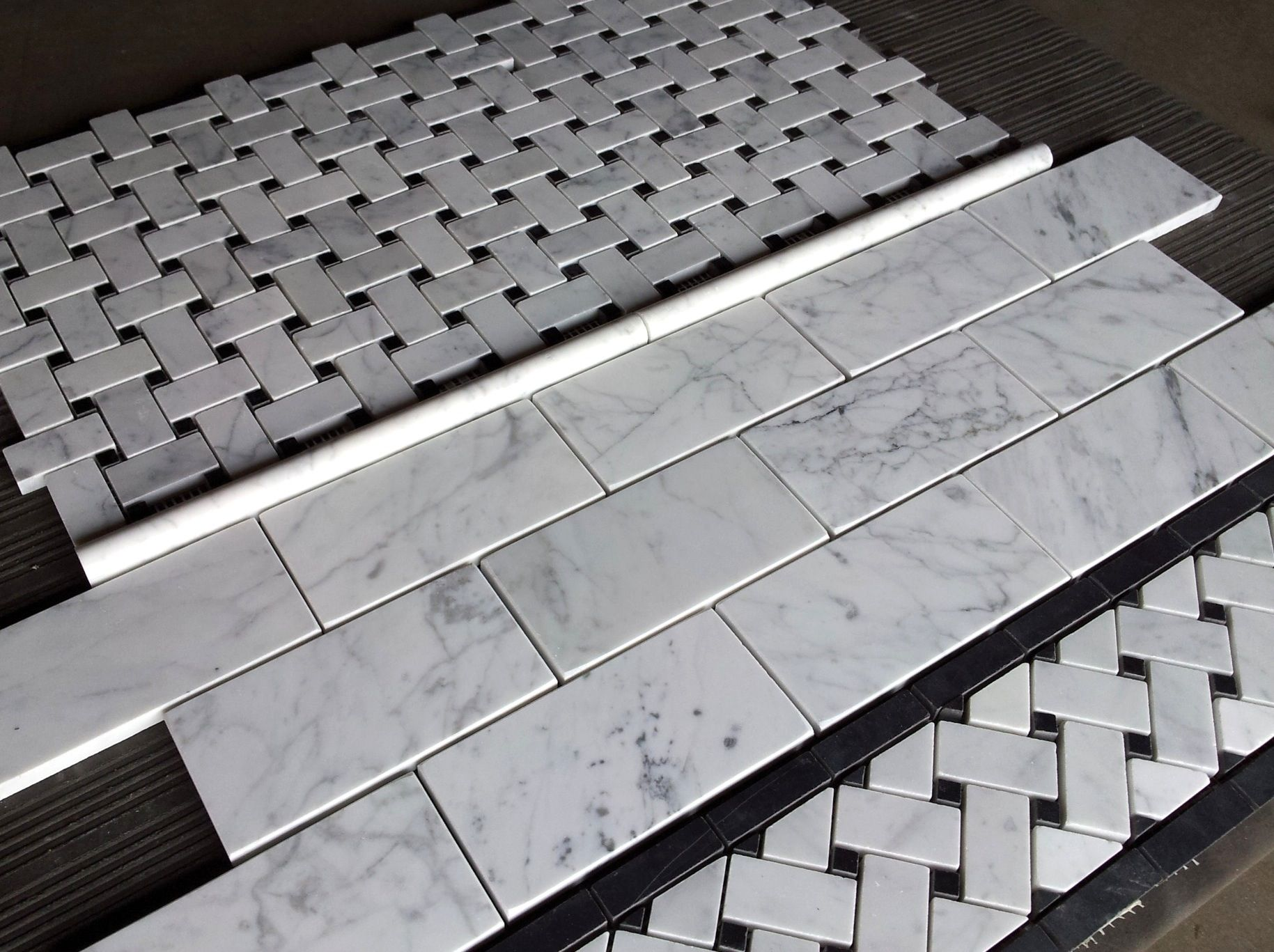 basket weave border tile floor - Google Search