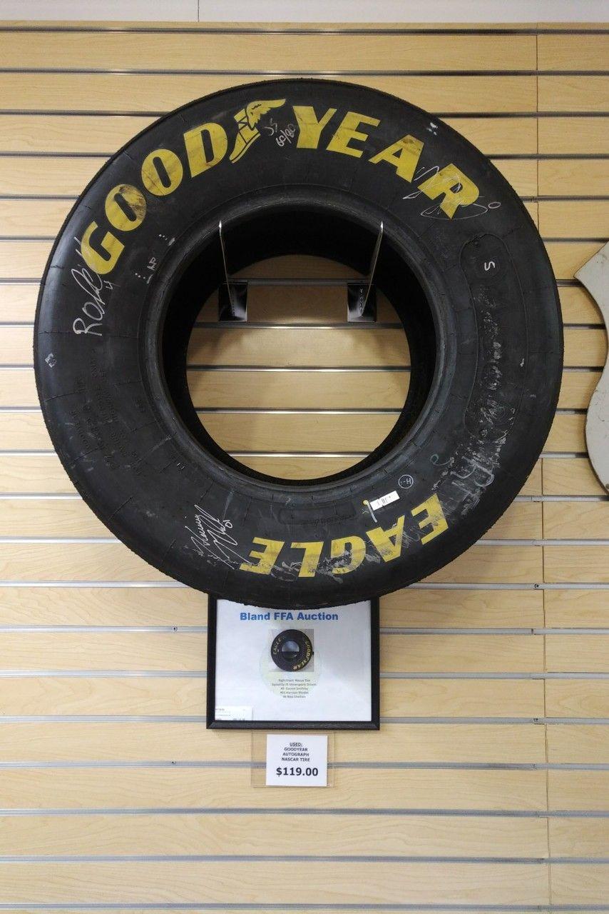 NASCAR Tire Autographed by 3 NASCAR Drivers - Another Unique
