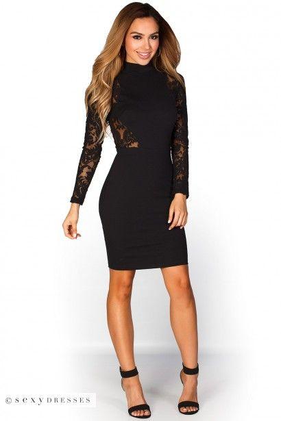 Long black cut out dresses