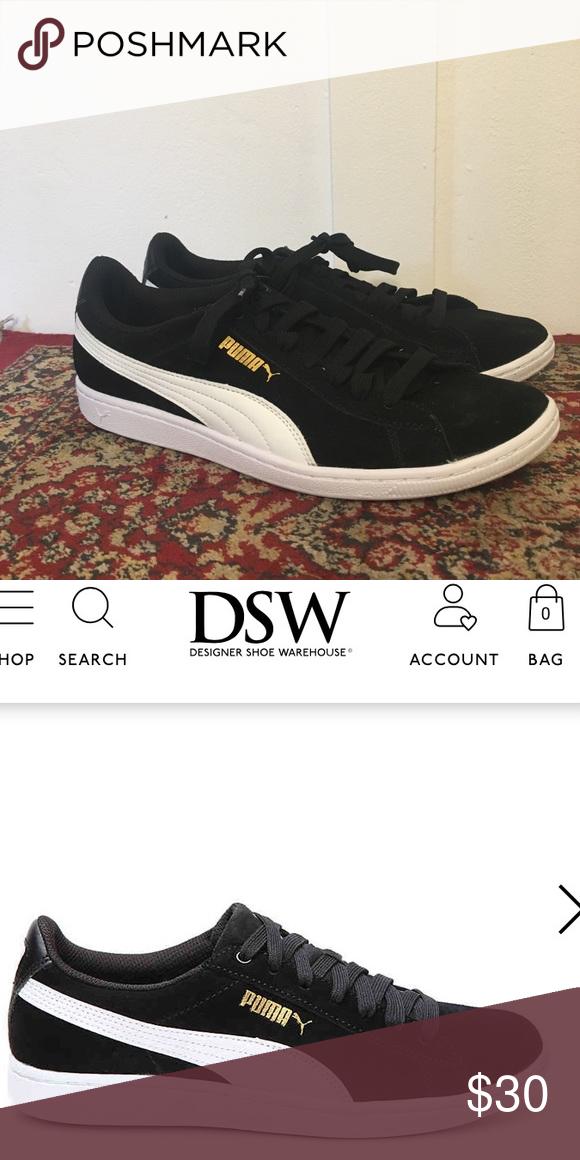 0ce1c940fbc Puma Soft Foam Sneaker Black kicks with a white stripe! Brand new never  worn still