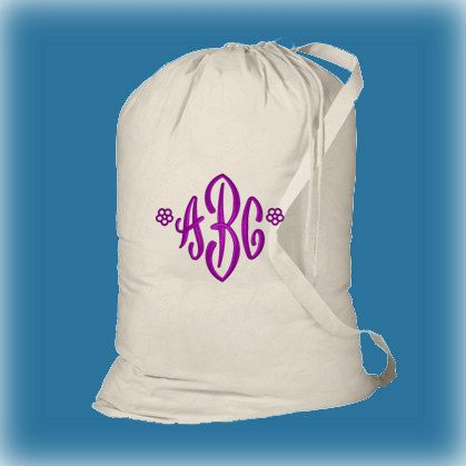 Boy Or Girl Graduation Gift Monogrammed Laundry Bags