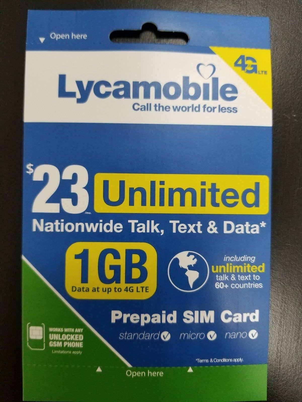 Phone Cards and SIM Cards 146492: Lycamobile 23*1 Preloader