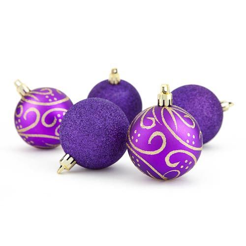 christmas ornaments purple a color with punch. Black Bedroom Furniture Sets. Home Design Ideas