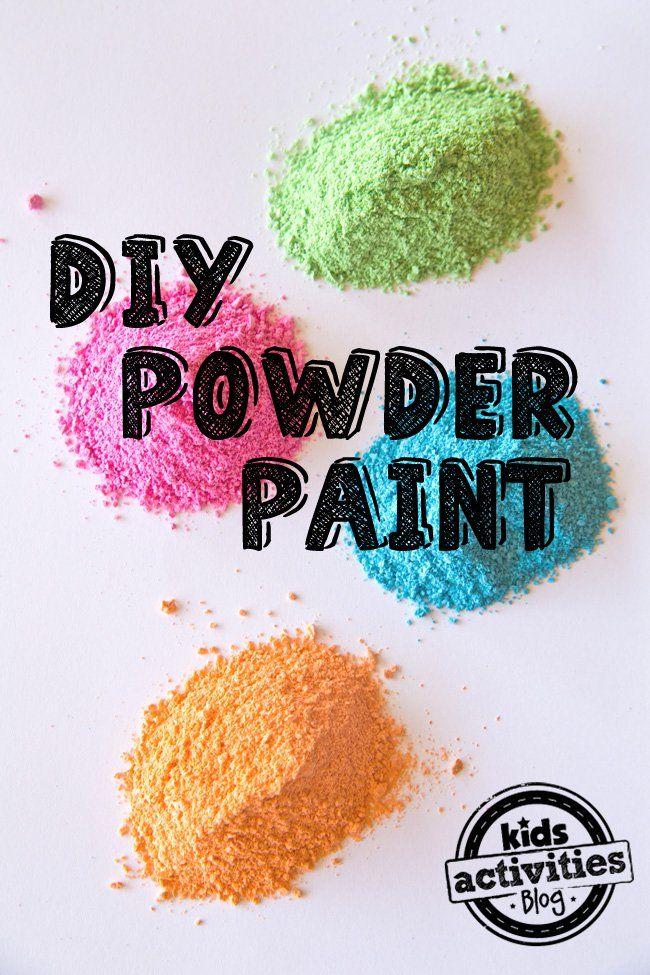 diy powder paint life kids stuff pinterest powder paint
