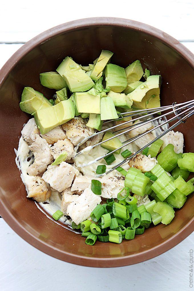 Chicken salad with avocado recipes