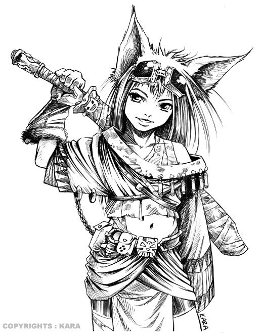 Female Warrior Coloring Pages