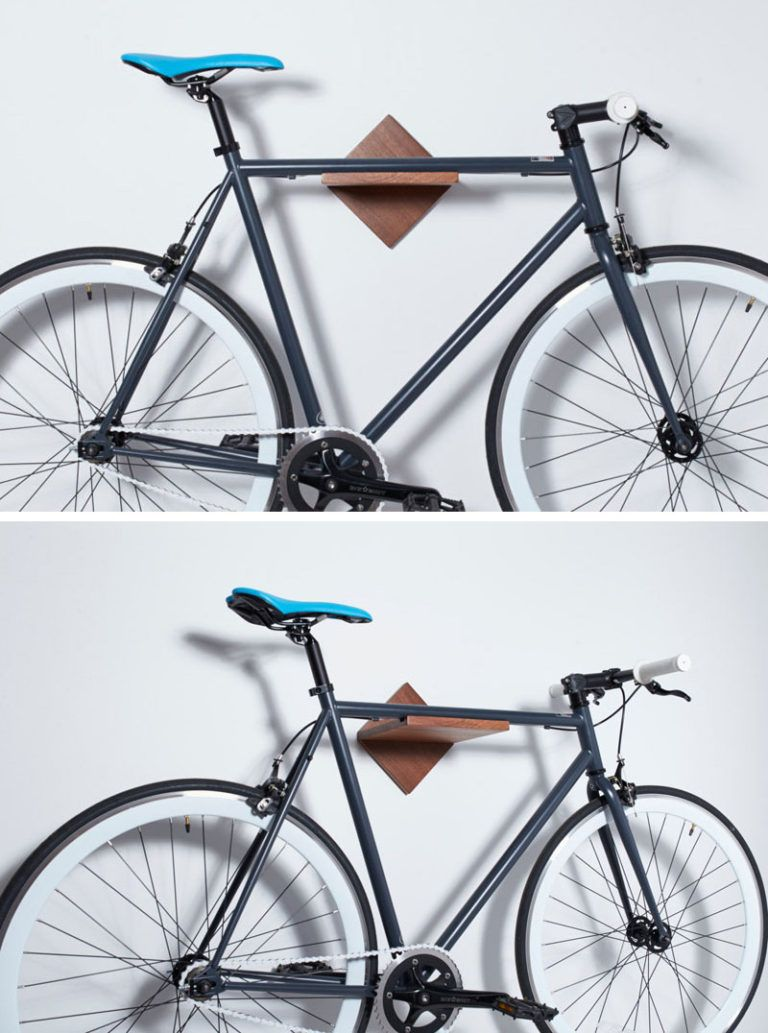 Put Your Bike On Display With These Wall Mounted Bike Racks In 2020 Wall Mount Bike Rack Bike Rack Wall Bike Storage