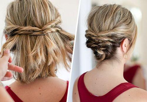 Twister Half Updo Style Hair