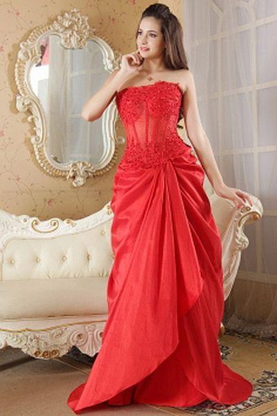 A-Line Ein-Schulter Taft Berühmtheit Kleider kv1861 - Silhouette: A ...