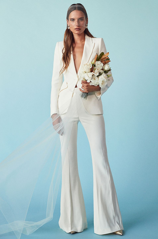 Alexander McQueen Flared Pants in Silk White | FWRD | Style ...