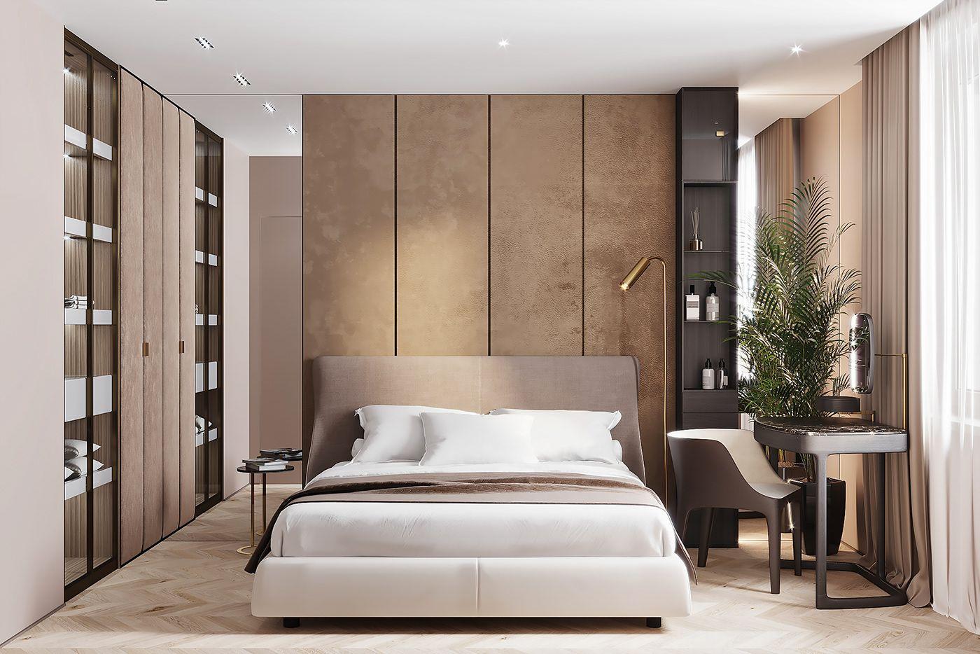 Apt. 58 m2 on Behance White furniture living room