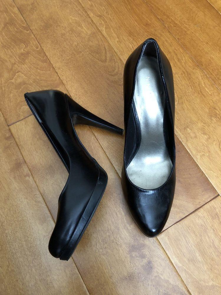 Nine West Black Pumps 4 Inch Heel Fashion Clothing Shoes Accessories Womensshoes Heels Ebay Link