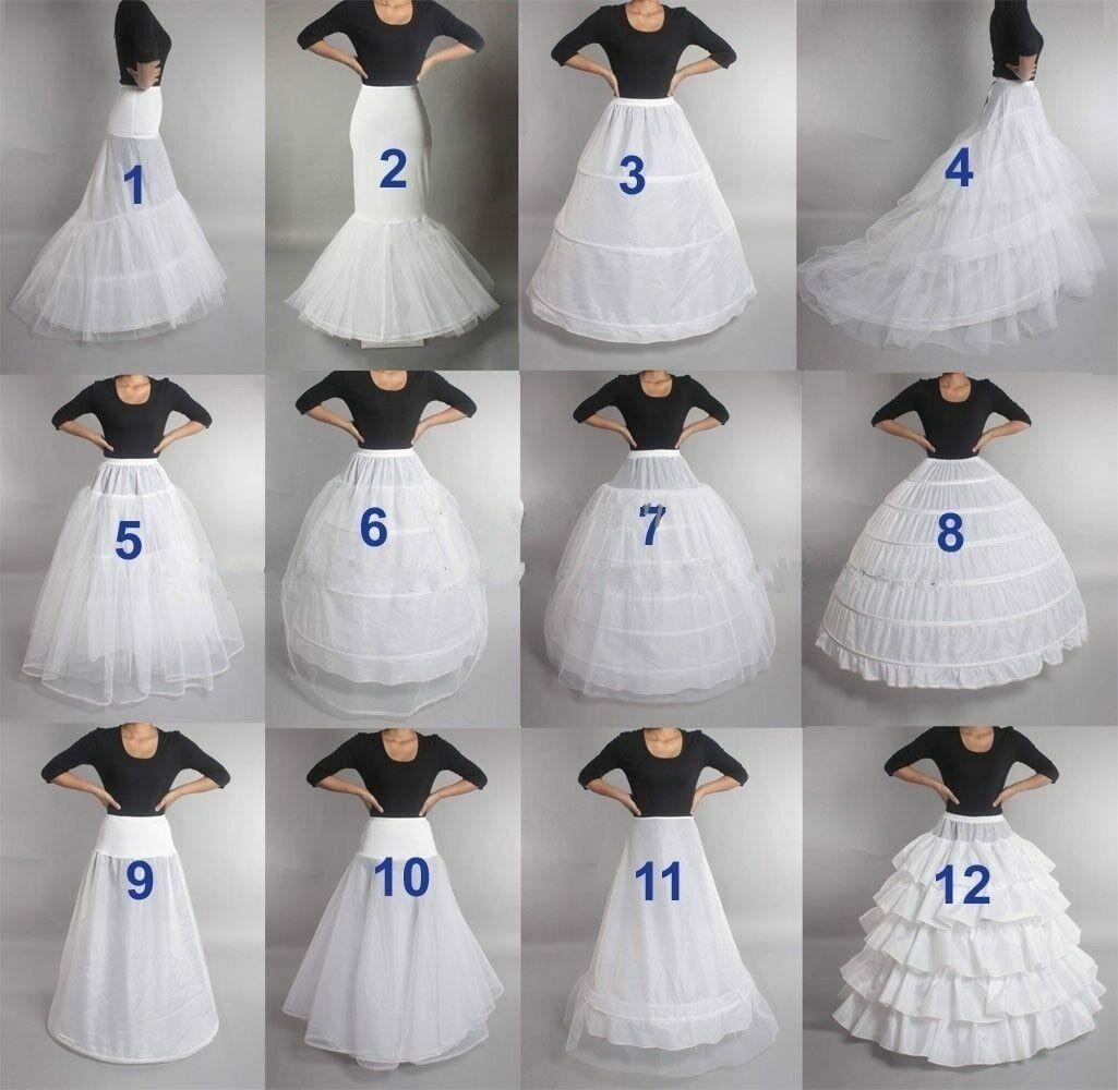 17 Neu Petticoat Unterrock Kleid Unterkleid Reifrock Ringe