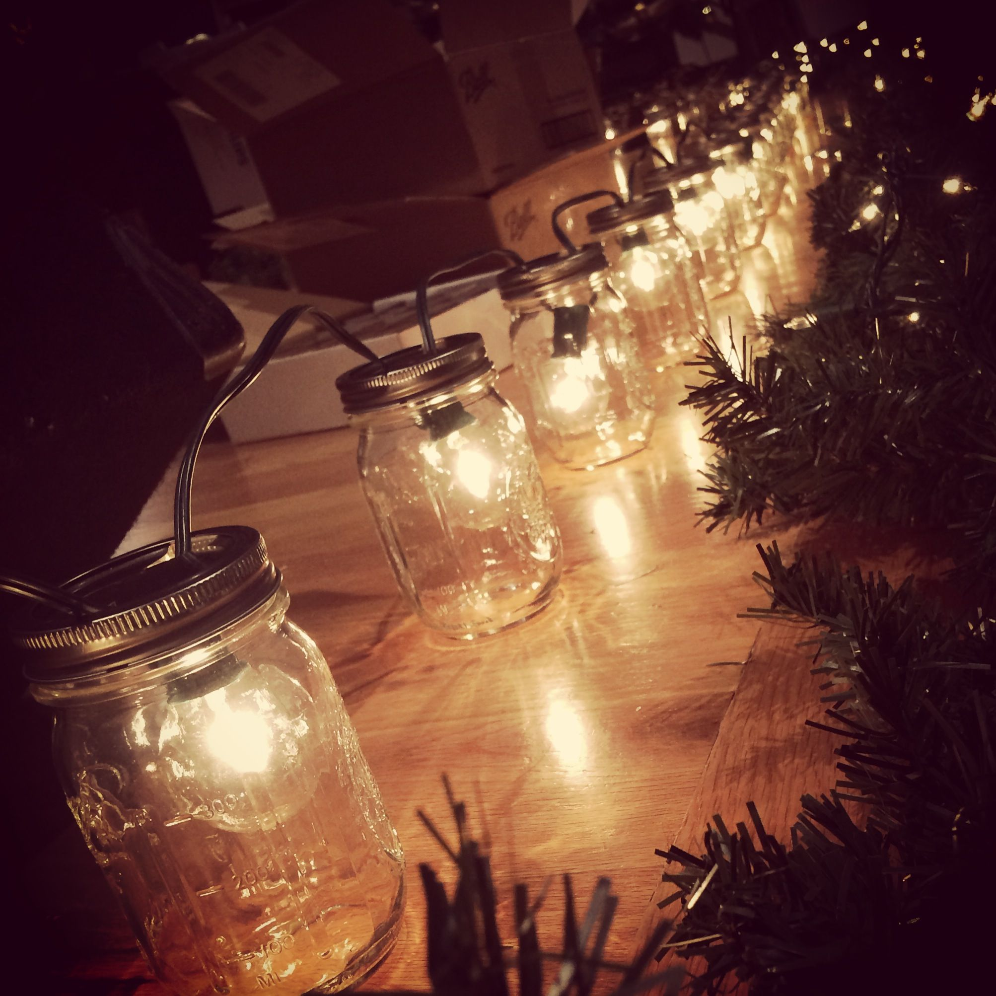Make over a set of plain patio light bulbs by housing them in 16-ounce mason jar lanterns. Your new outdoor lighting can be secured—and even hung—with plastic zip ties