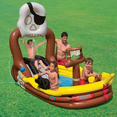 Intex Pirate Adventure Ship Play Center Kids Inflatable