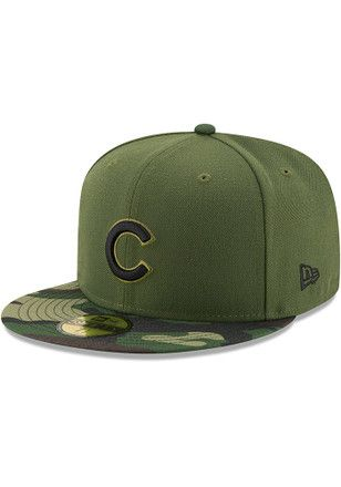 02271c4703a3f8 ... real chicago cubs new era mens green 2017 memorial day ac 59fifty  fitted hat 37606 edda7