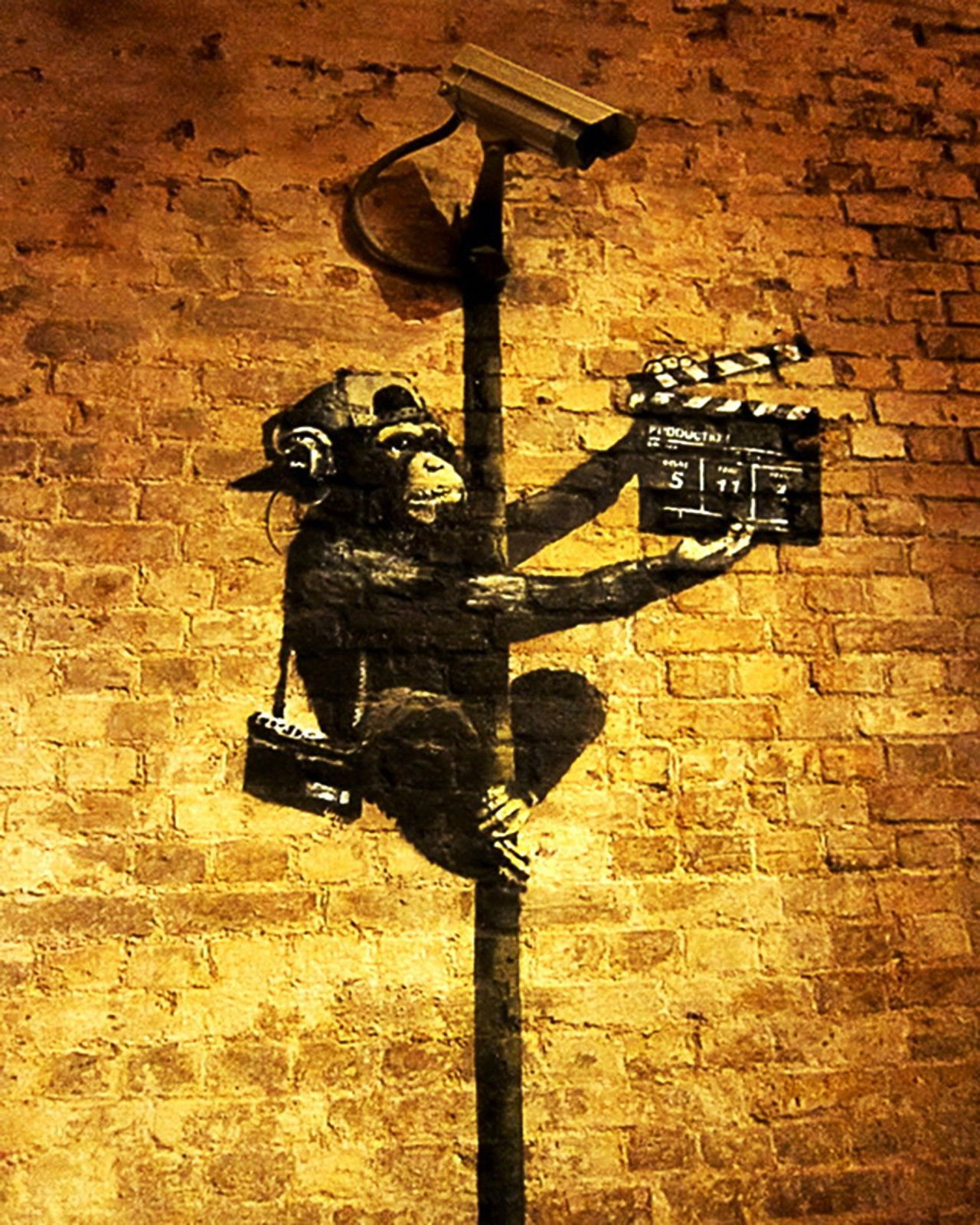 Banksy Monkey Director 8 X 10 Inch Canvas Print Street ART Graffiti ...