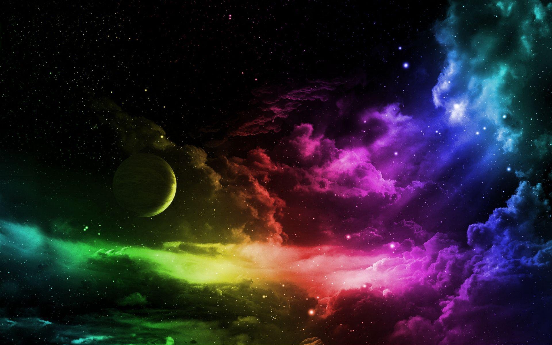 Rainbow dash sky wallpapers colors space wallpaper rainbows images | Photos | Pinterest ...