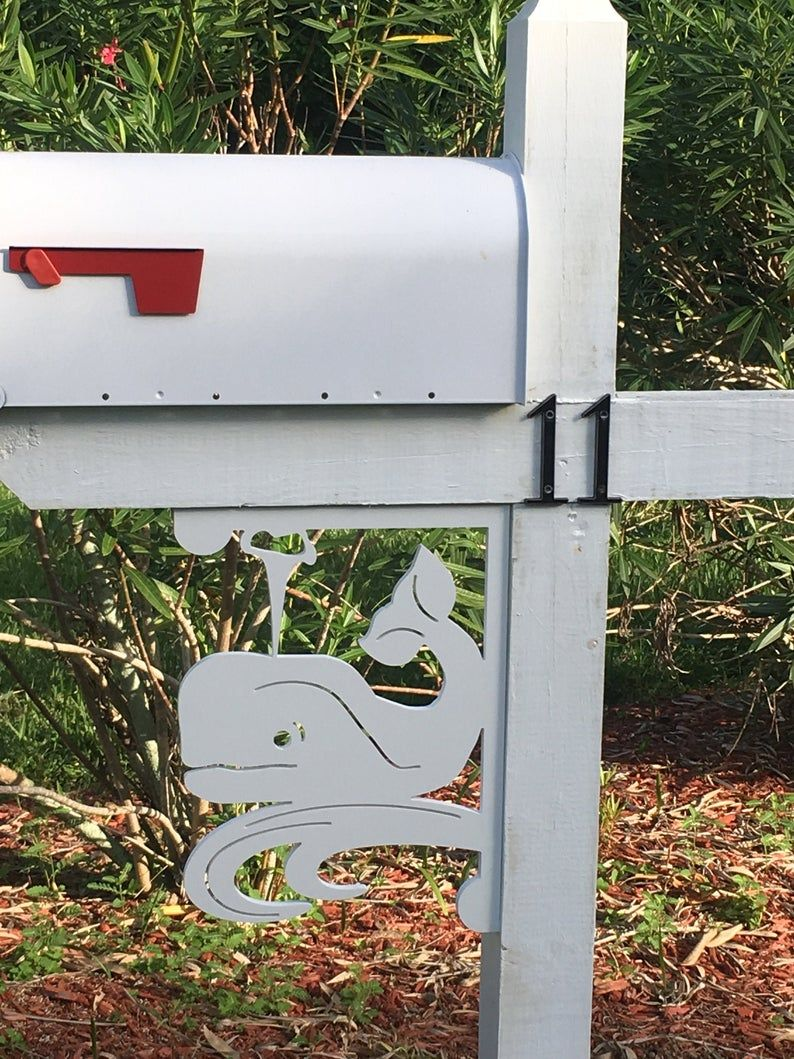 Mailbox Bracket Whale Coastal Tropical Custom Mailbox