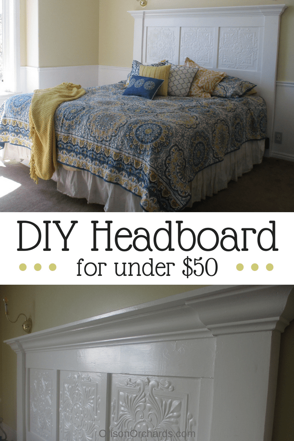 Easy DIY Headboard for under $50 is part of Home Accents DIY Headboards - Need a new headboard  You can easily build yourself a gorgeous new headboard for less than a tenth of what you'd spend at a furniture store