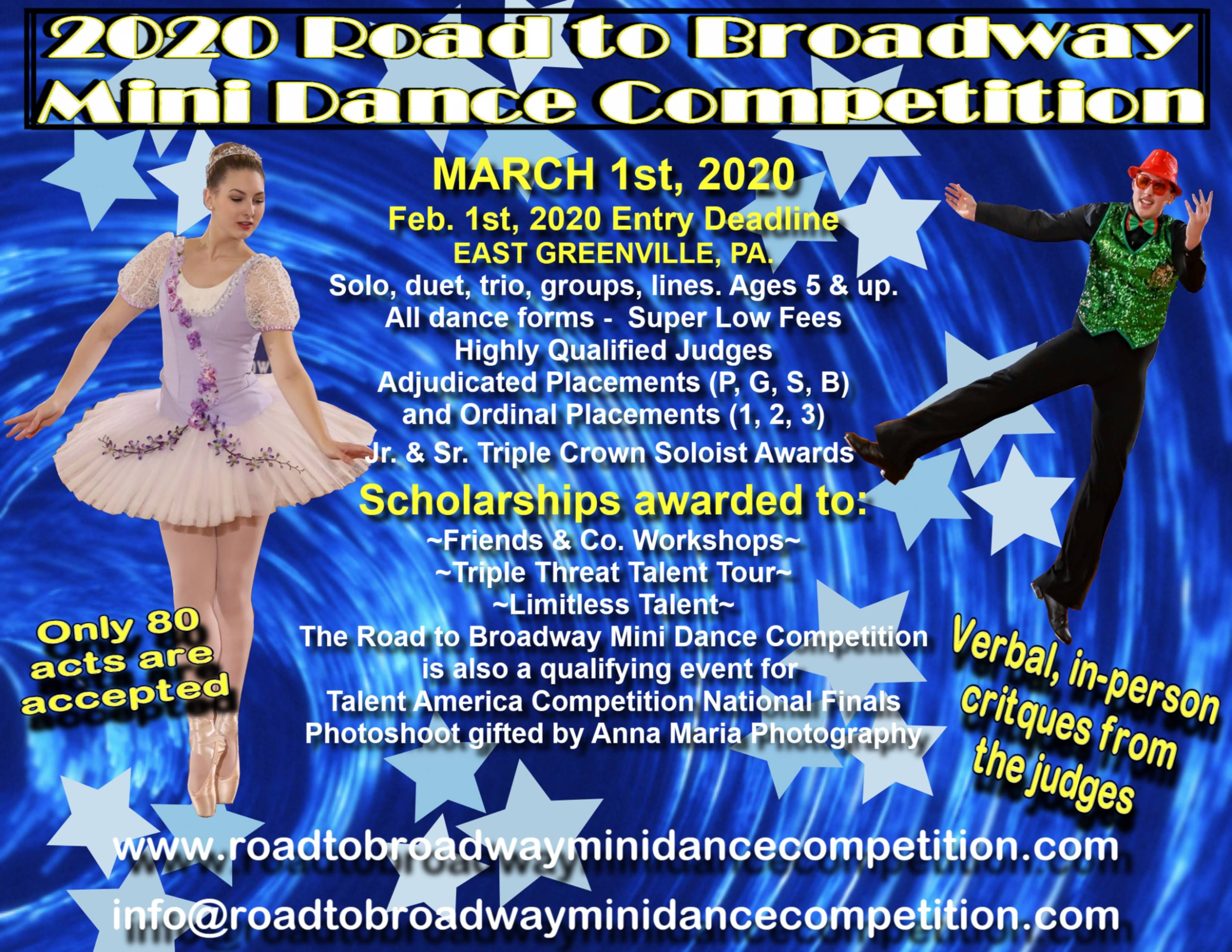 2020 Road To Broadway Mini Dance Competition Dance Competition Dance Competition