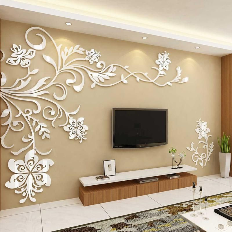 Acrylic Background Wall Stickers Wall Stickers Home Decor Wall Stickers Living Room Background Decoration
