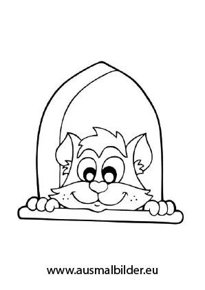 Ausmalbild Neugierige Katze Zum Ausmalen Ausmalbilder Malvorlagen Katze Ausmalbilderkatze Kinde Ausmalbilder Katzen Katze Zum Ausmalen Ausmalen