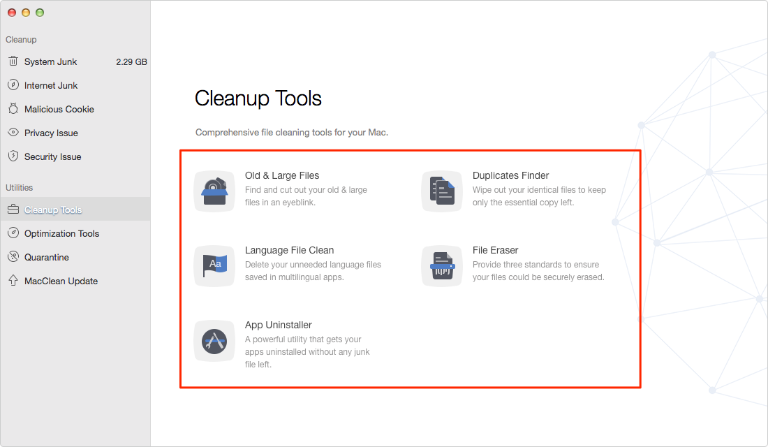Free Up Memory with MacClean – Step 3