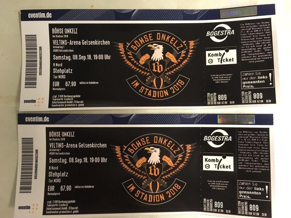 2x Böhse Onkelz Tickets Gelsenkirchen 08092018 Innenraum
