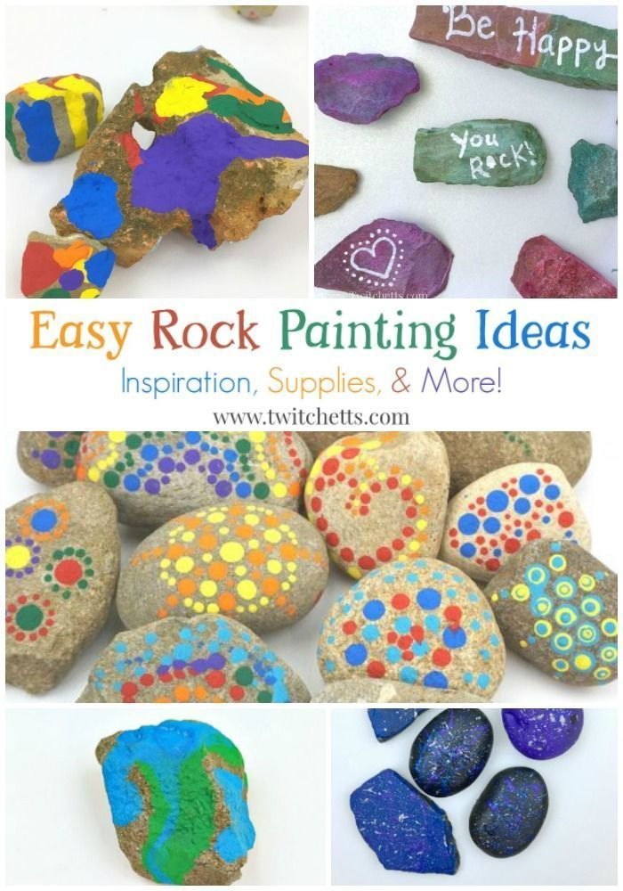 Easy Rock Painting Ideas Decorating Techniques From Stone To Construction Paper Perfect For Kids And Beginner