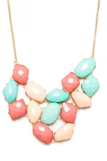 pastel statement necklace  cfd60f699868