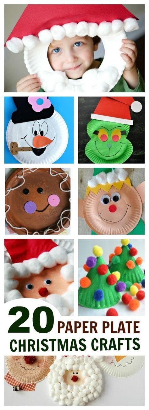 20 EASY  FUN PAPER PLATE CHRISTMAS CRAFTS