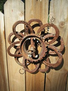 Creeksiderummager Another Welded Horseshoe Flower With Images