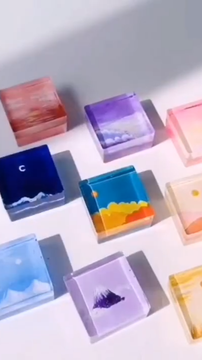 Resin and Arcylic paint