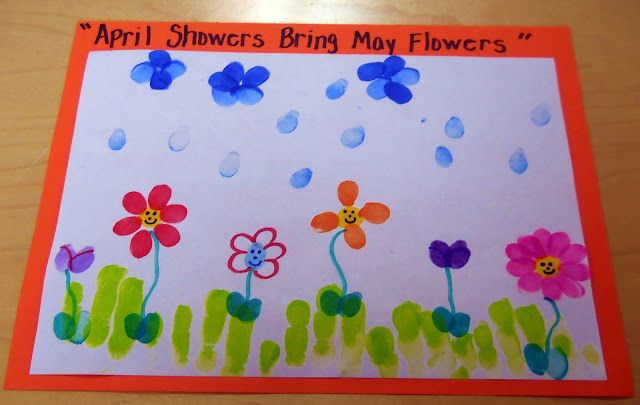 April Showers Bring May Flowers Funprint Art Cool Kids Stuff