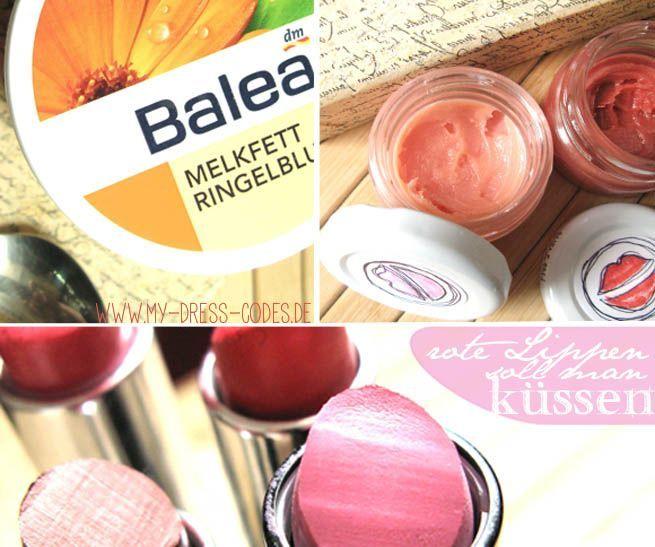 pflegenden Lippenbalsam selber machen: einfaches Rezept für Lipbalm aus Melkfett & Honig für gepflegte Lippen: