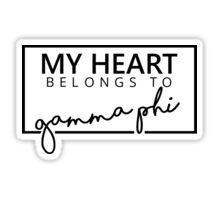 Gamma Phi Beta Stickers Gamma Phi Terps Gamma Phi Stickers