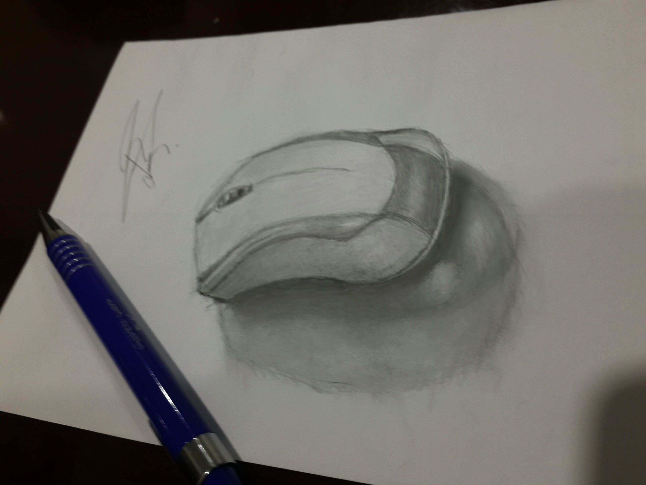 Mechanical pencil drawing computer mouse mouse drawing pencil