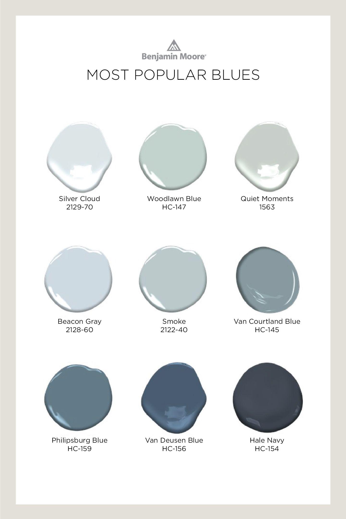Most Popular Benjamin Moore Blue Paint Colors