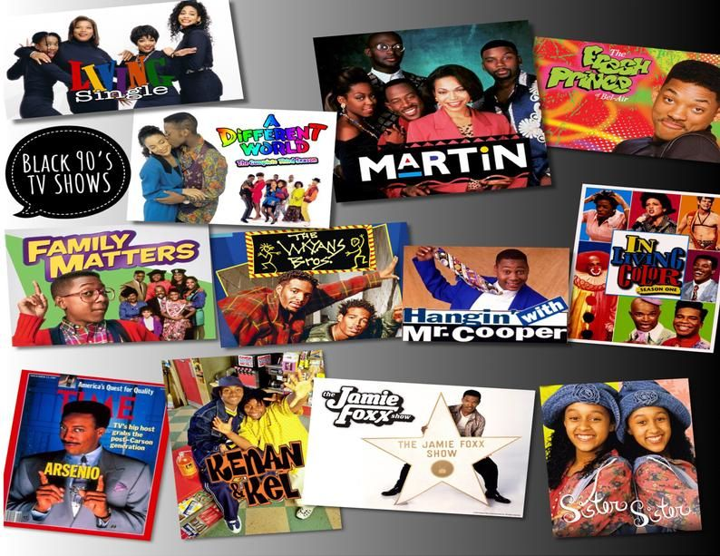 Black 90s TV shows 2020 Calendar Etsy in 2020 90s tv