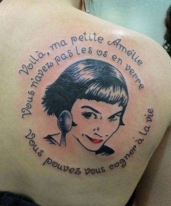 Amélie Poulain - 45 Awesome Portrait Tattoo Designs
