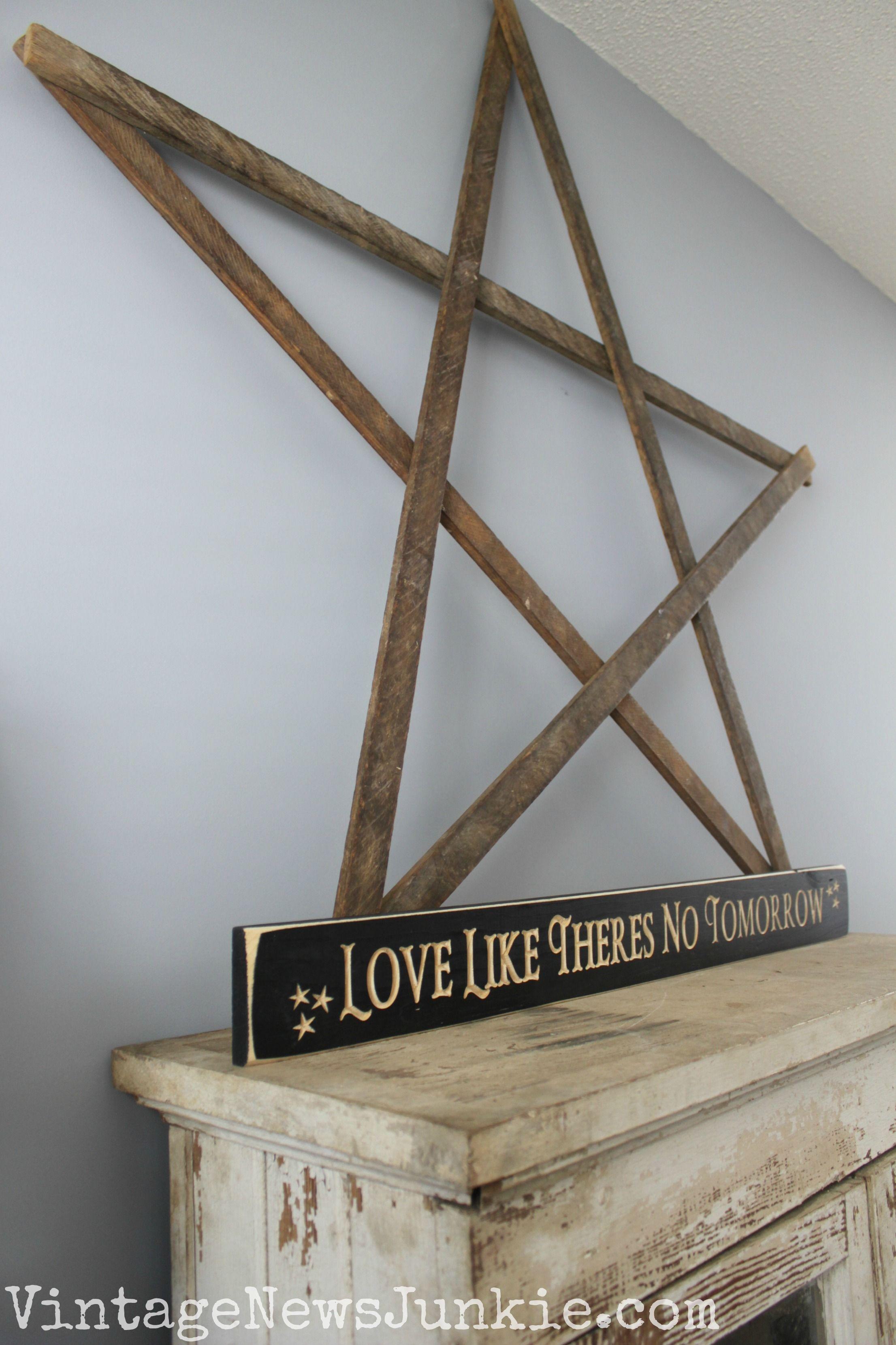 Five Minute DIY Wooden Stars Wooden diy, Wooden crafts