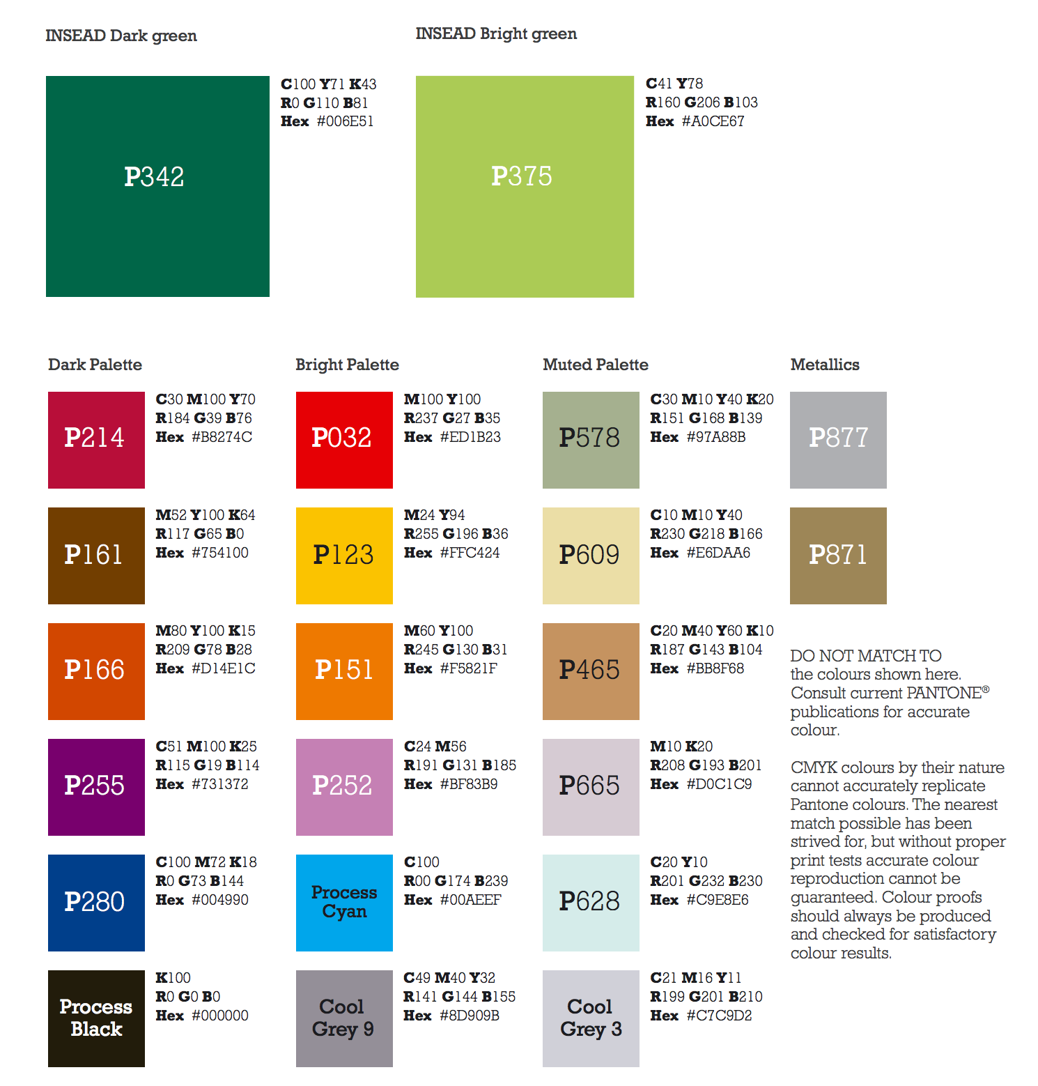 Insead Colour Palette